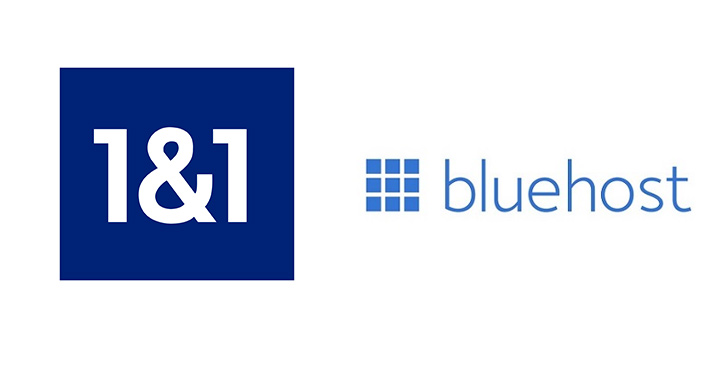 1and1 vs bluehost web hosting comparison