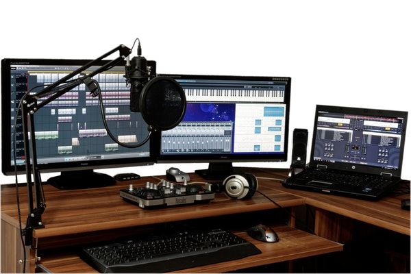 audio mixing setup